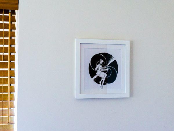 Jocelyn Bell Burnell Original Artwork - White Frame