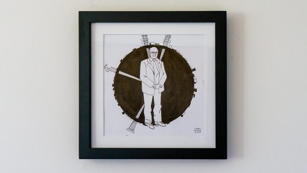 Peter Higgs Original Artwork - Black Frame