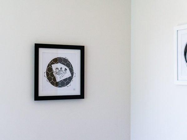 Andre Geim Original Artwork - Black Frame