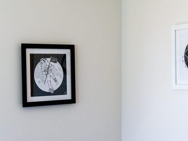 Neil Armstrong Original Artwork - Black Frame