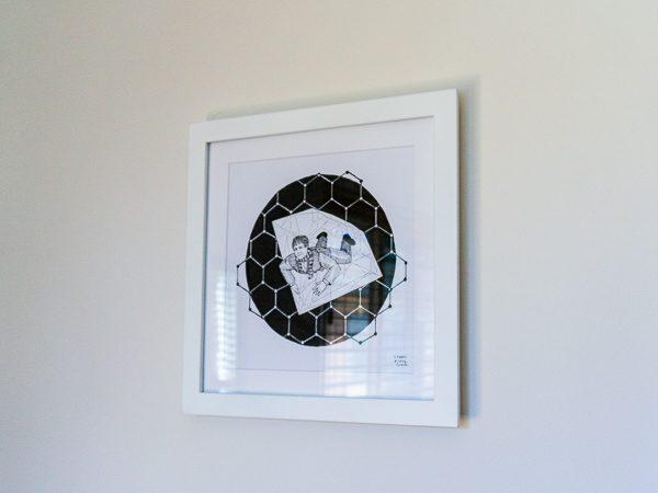 Andre Geim Original Artwork - White Frame