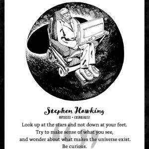 Stephen Hawking Limited Edition Art Print