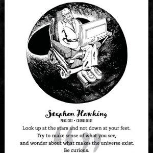Stephen Hawking Limited Edition Art Print