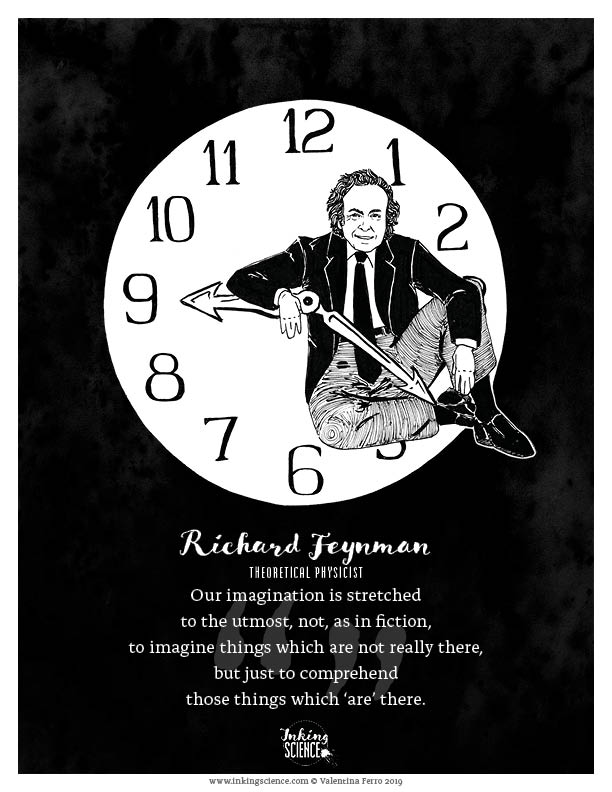 Richard Feynman Limited Edition Art Print