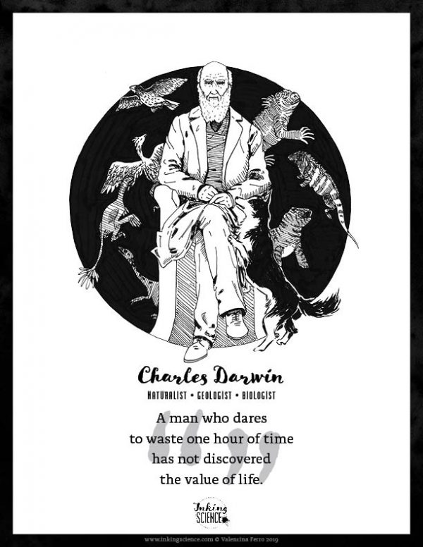 Charles Darwin Limited Edition Art Print