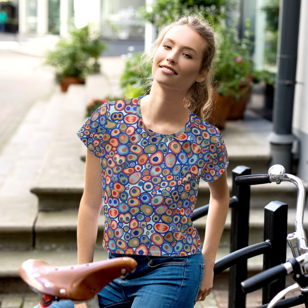 Cell Pattern – Crop Tee