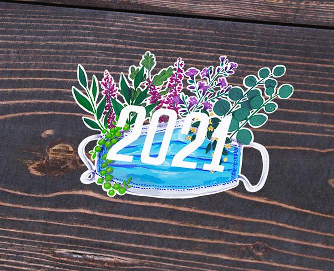 Happy 2021 Holo Sticker